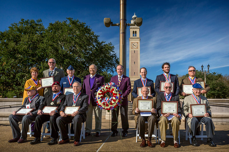 Inducted into the military Hall of Honor during LSU Salutes activities Nov. 13-14  were, front, from left, William D. Shaffer Jr.; Daniel M.  <a href=